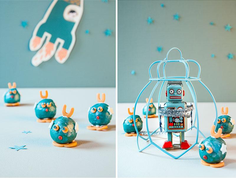 Cake Pops als Kindergeburtstagskuchen mit Außerirdischen