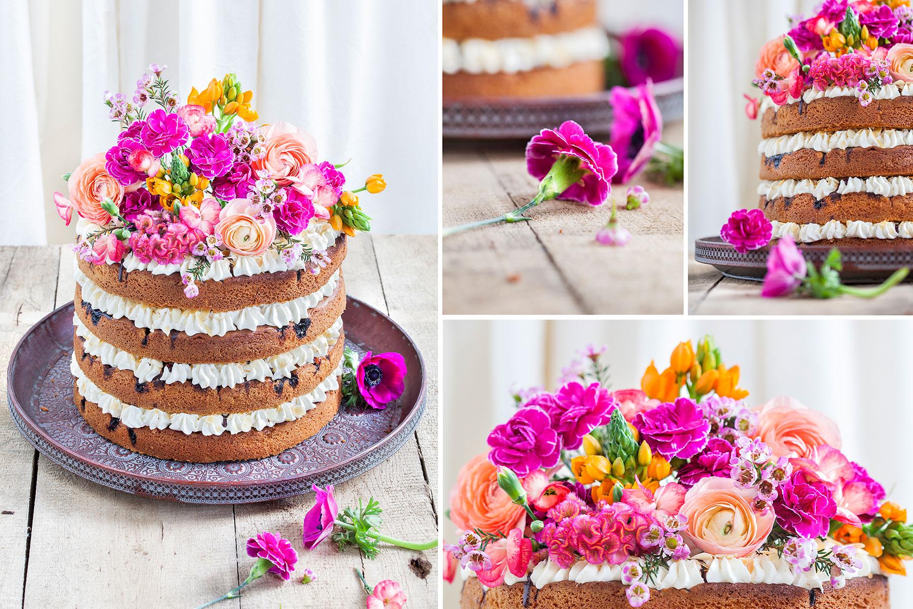 Torte Mit Blumen Hochzeitstorte Mit Echten Blumen Dekorieren