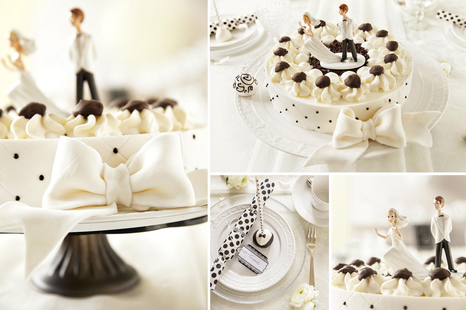 Hochzeitstorte Rezept und Ideen plus Cake Pops in Schwarz und Weiß