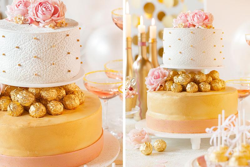 Hochzeitstorte selbst gemacht im Glamour-Look der 20er Jahre