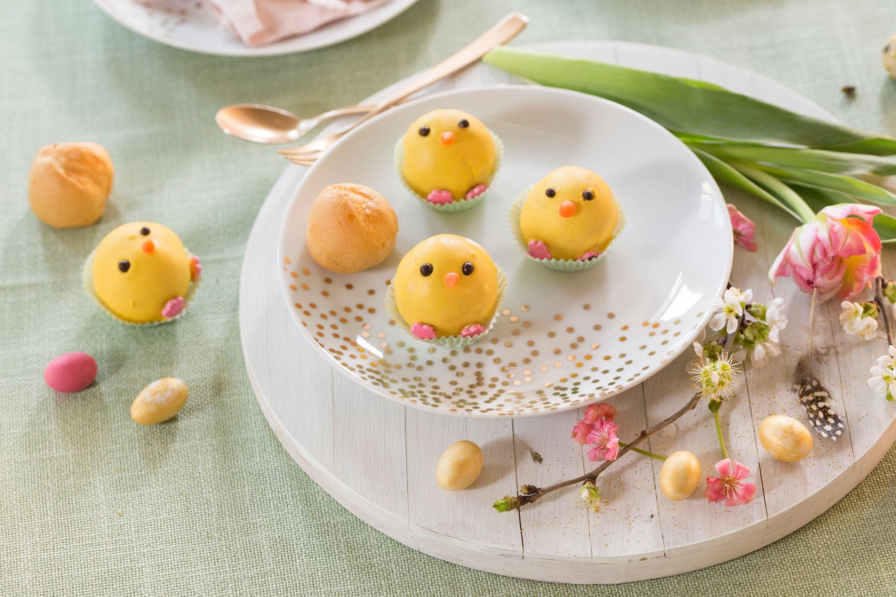 Kuchen für Ostern Rezept und Idee für niedliche Cake Pop Küken