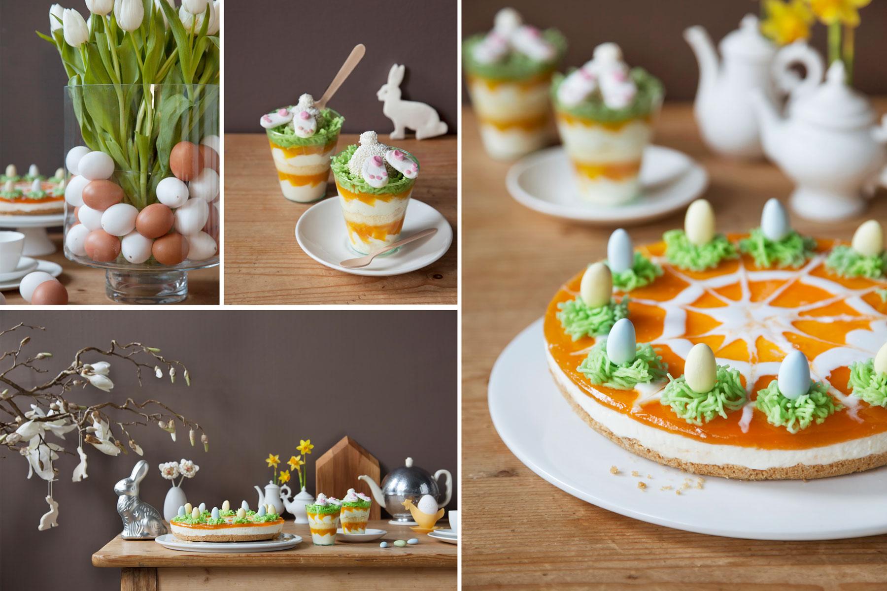 Kuchen zu Ostern Rezept und Ideen für festlich gedeckte Tafel