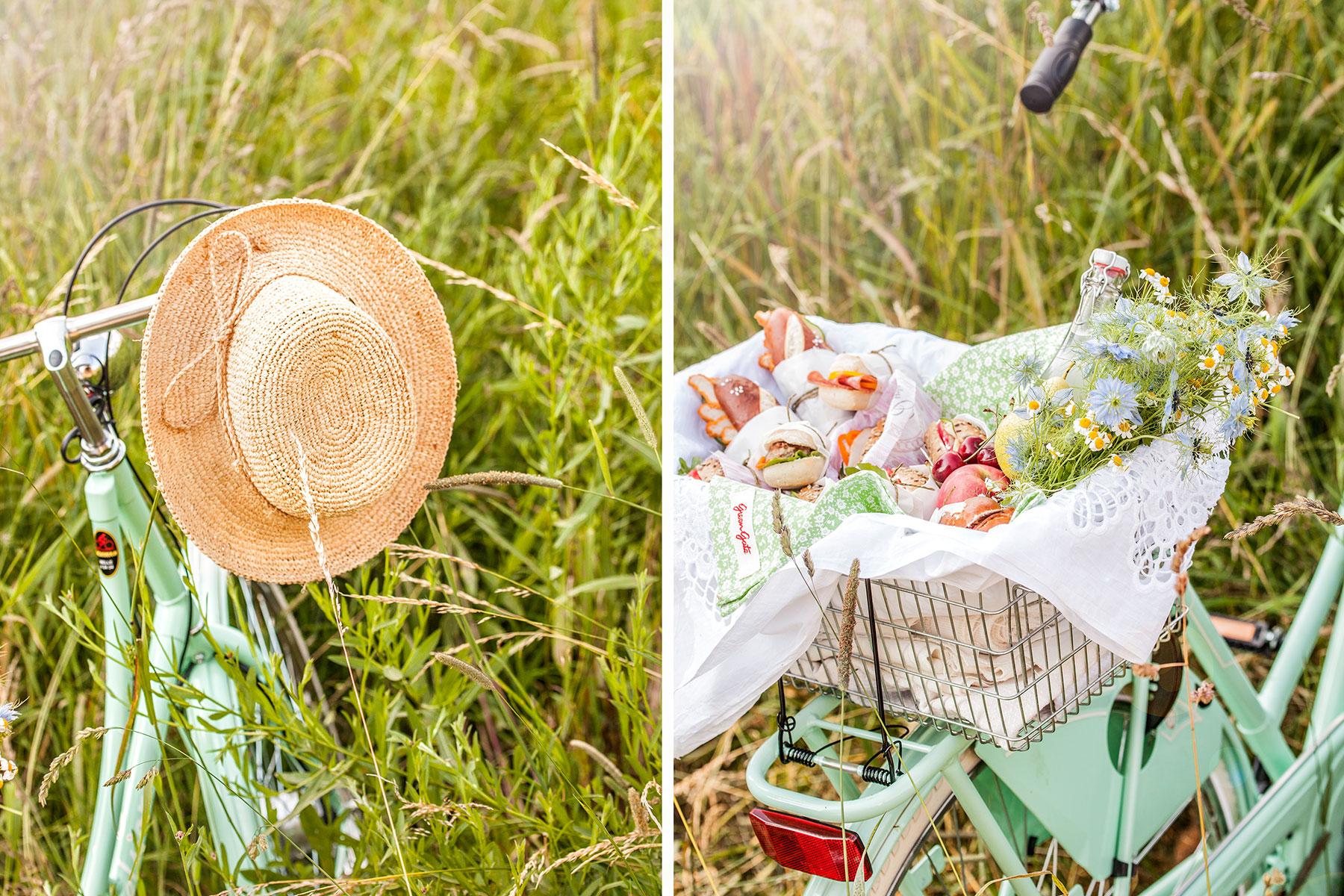 Rezept und Deko für Fahrradtour mit herzhaften Snacks aus Brötchen