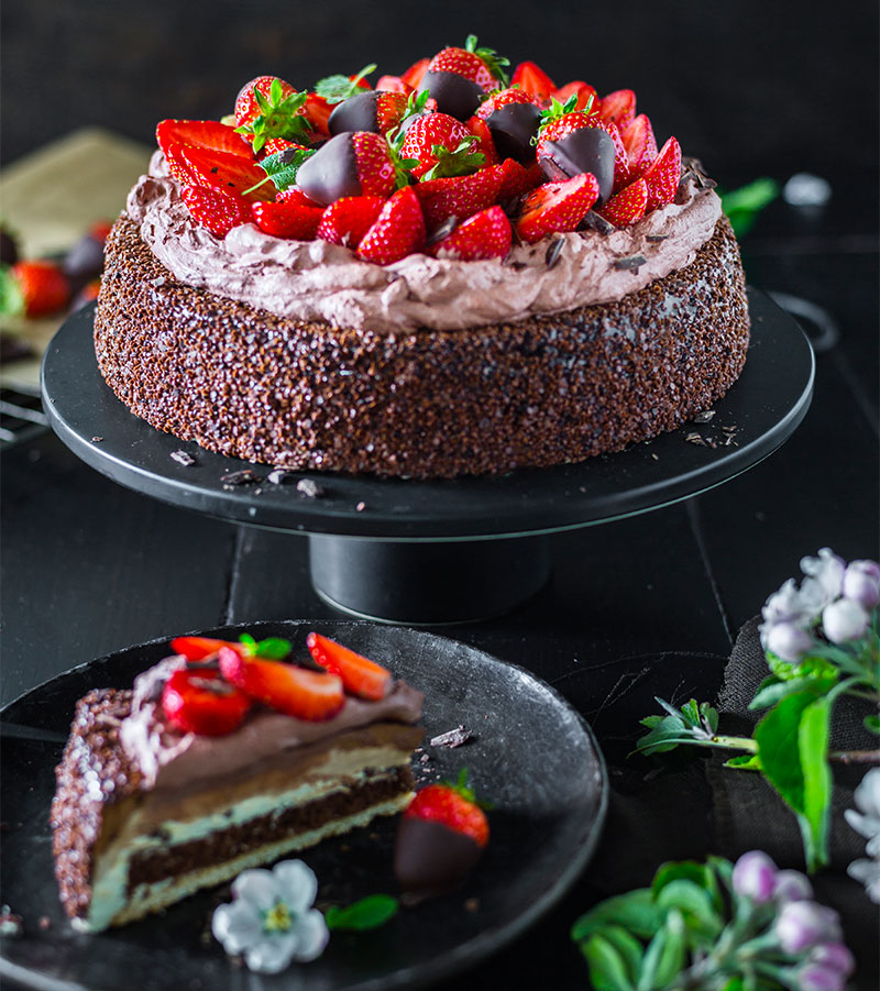 Schokoladen Erdbeer Torte Rezept Schnelle Anleitung Selber Machen