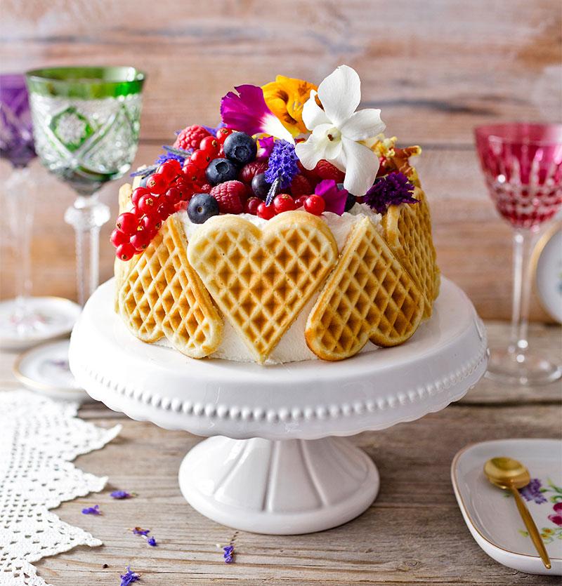 starcciatella-kirsch muttertag torte selber zubereiten und dekorieren