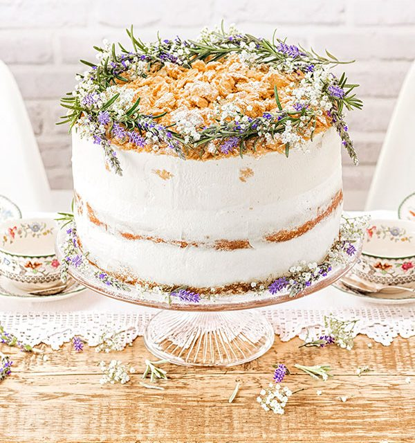 Torte zur Hochzeit Rezept und Deko für Modern-Folk-Motto