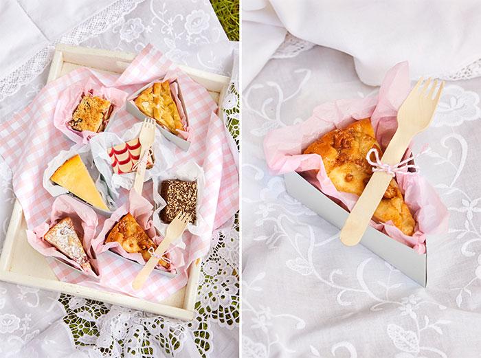 Tortenstücke selbst verpackt fürs Picknick