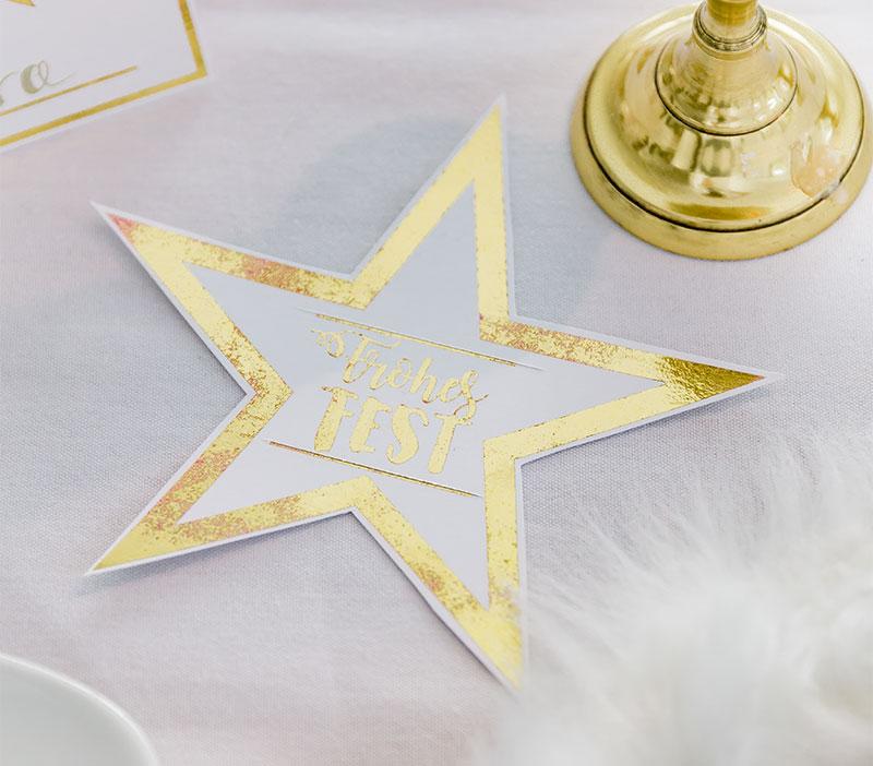 Weihnachten Anleitung Stern Dekorationen für den Tisch