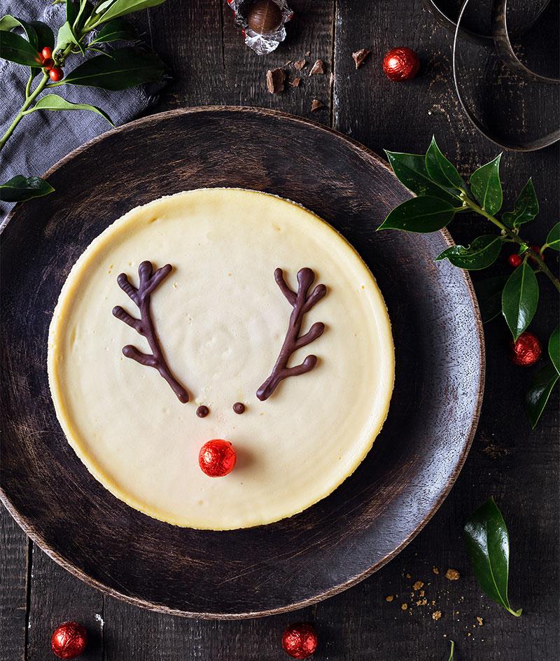 Weihnachtskuchen mit Rudolph Dekoration einfach selber machen