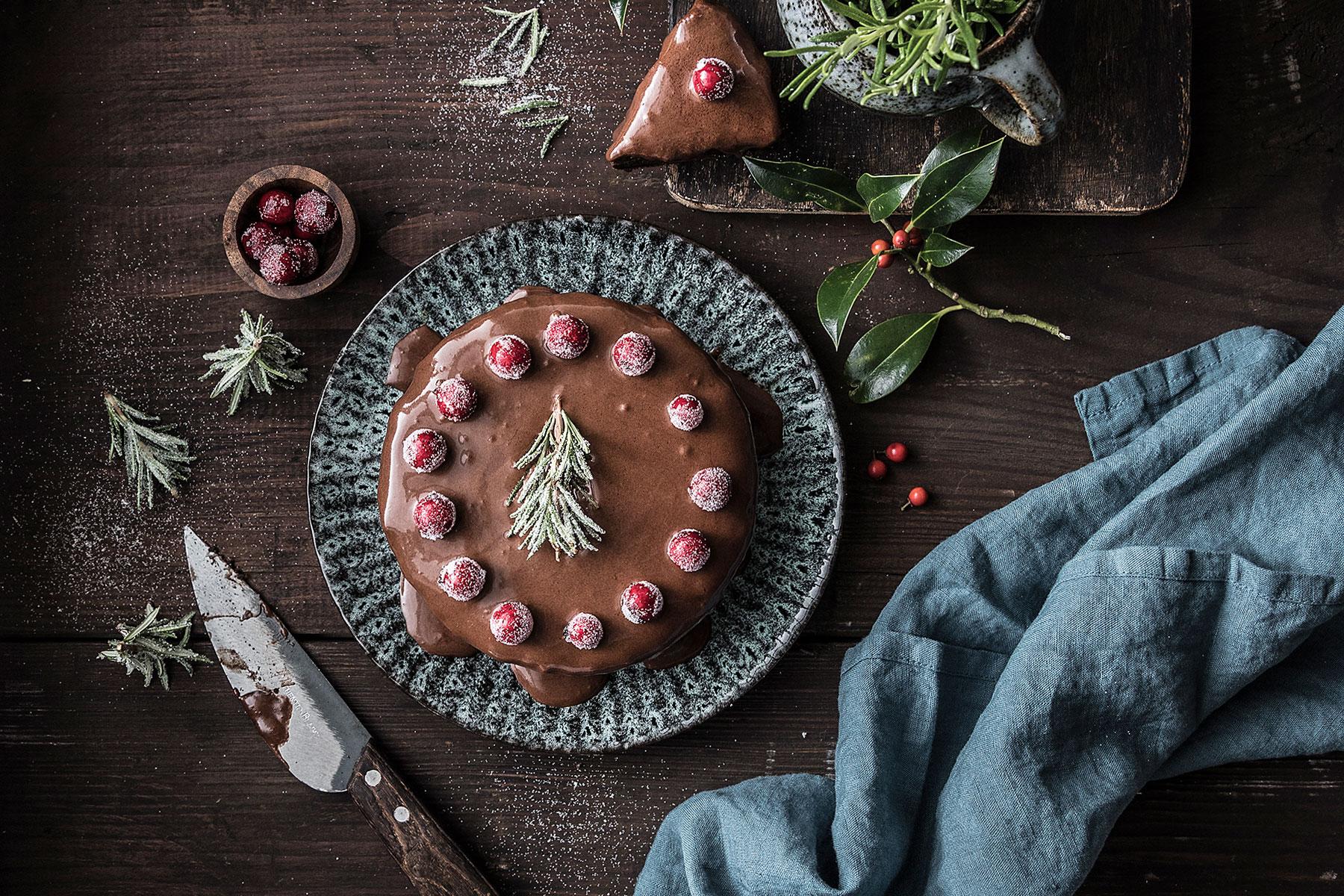 Weihnachtstorte Rezept für Schokoladentorte zum selber machen und dekorieren