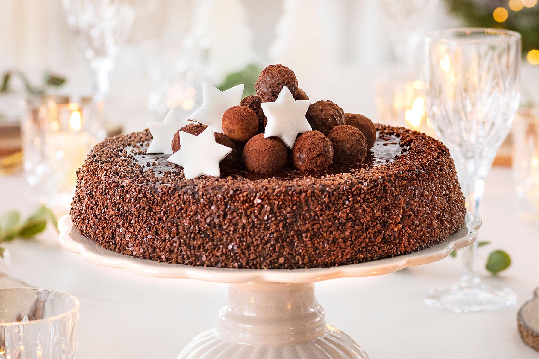 Weihnachtstorte Schokoladen Rezept schnell gemacht