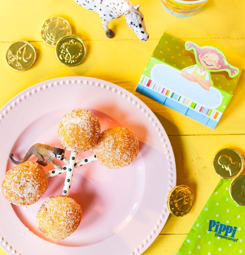 Windbeutel als Alternative zum Kindergeburtstagskuchen Pippi Langstrumpf