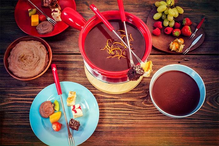 Zubereitung Kuchen und Torte im Schokofondue