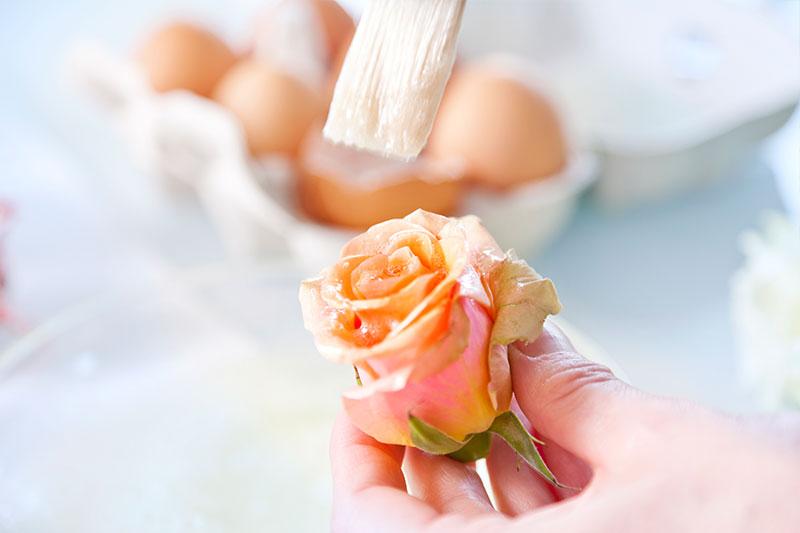 Zubereitung Rosen für Hochzeitstorte als Deko verzieren