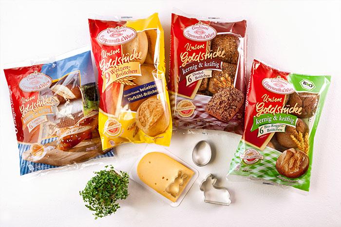 Zutaten für Brötchen und Brote für Osterbrunch