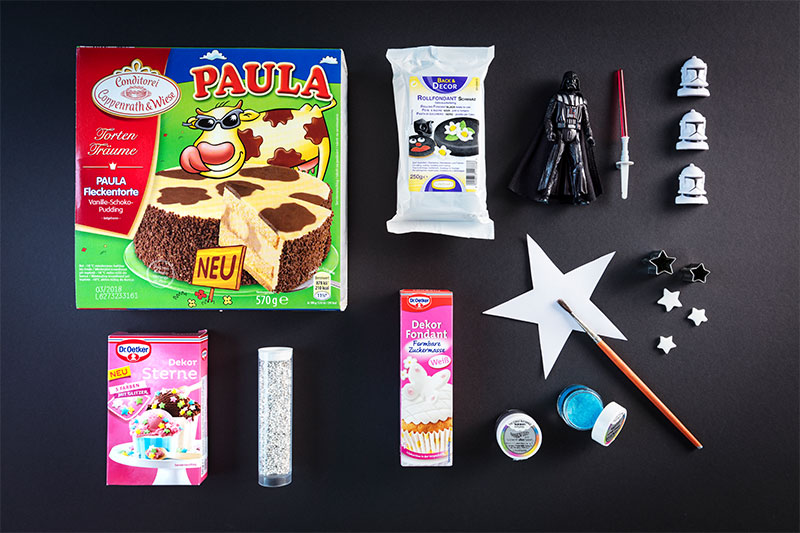 Zutaten für Star Wars Geburtstagstorte zum selber zubereiten