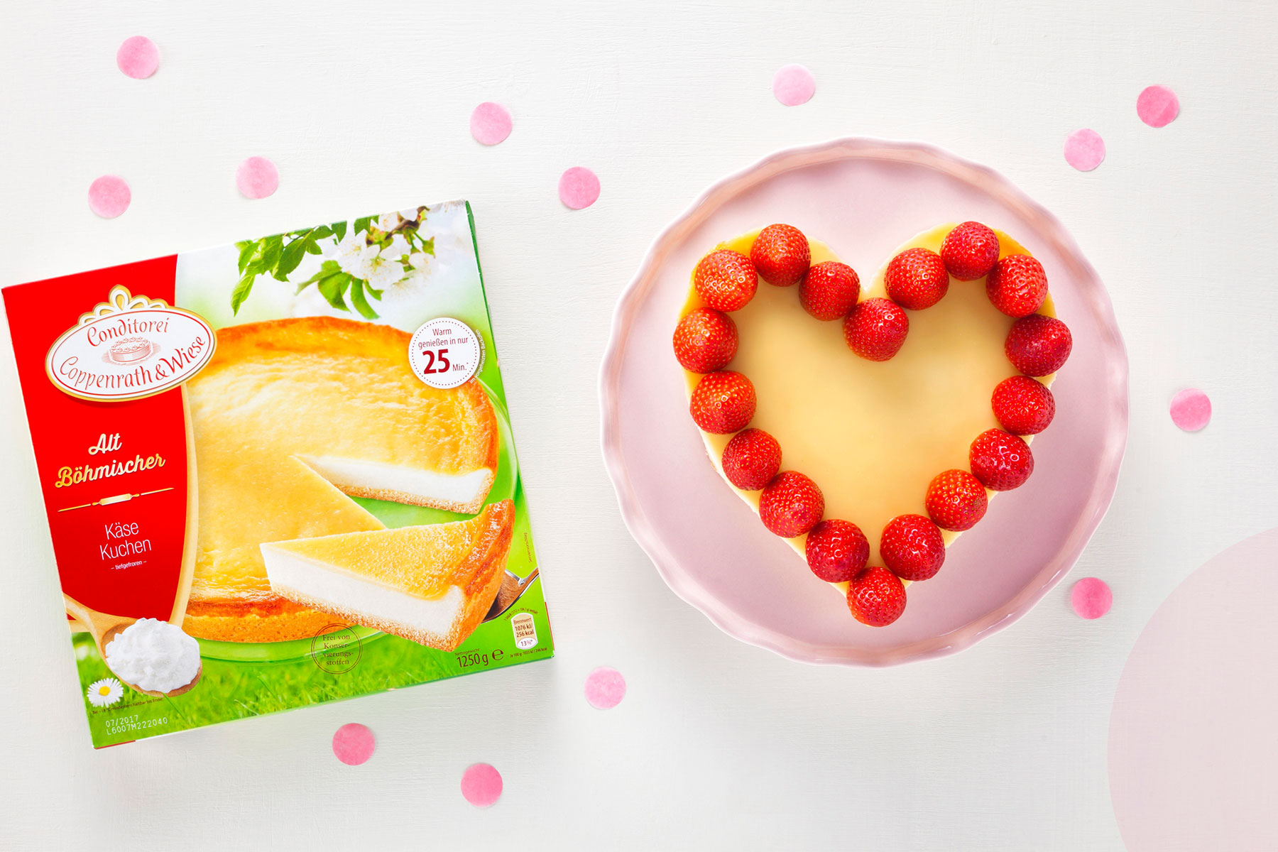 Zutaten Rezept Torte zum Valentinstag mit rotem Herz