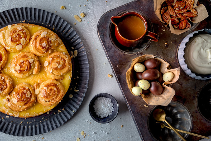Perfekt zu Ostern: Marzipankuchen mit salted-caramel 2