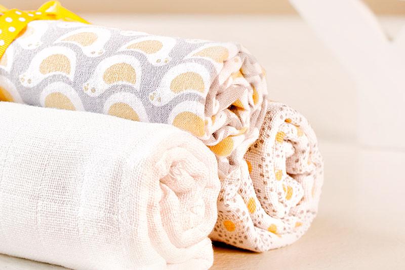 Babyparty Geschenkideen Spucktücher zum selber verzieren und verschenken