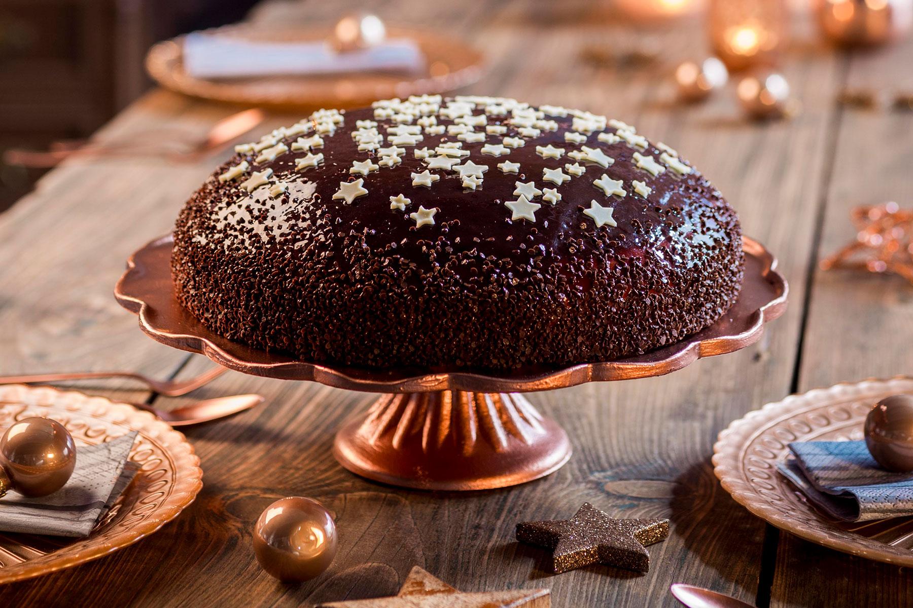 Inspiration und Rezept Adventstorte mit Schokoladenguss zum selber machen
