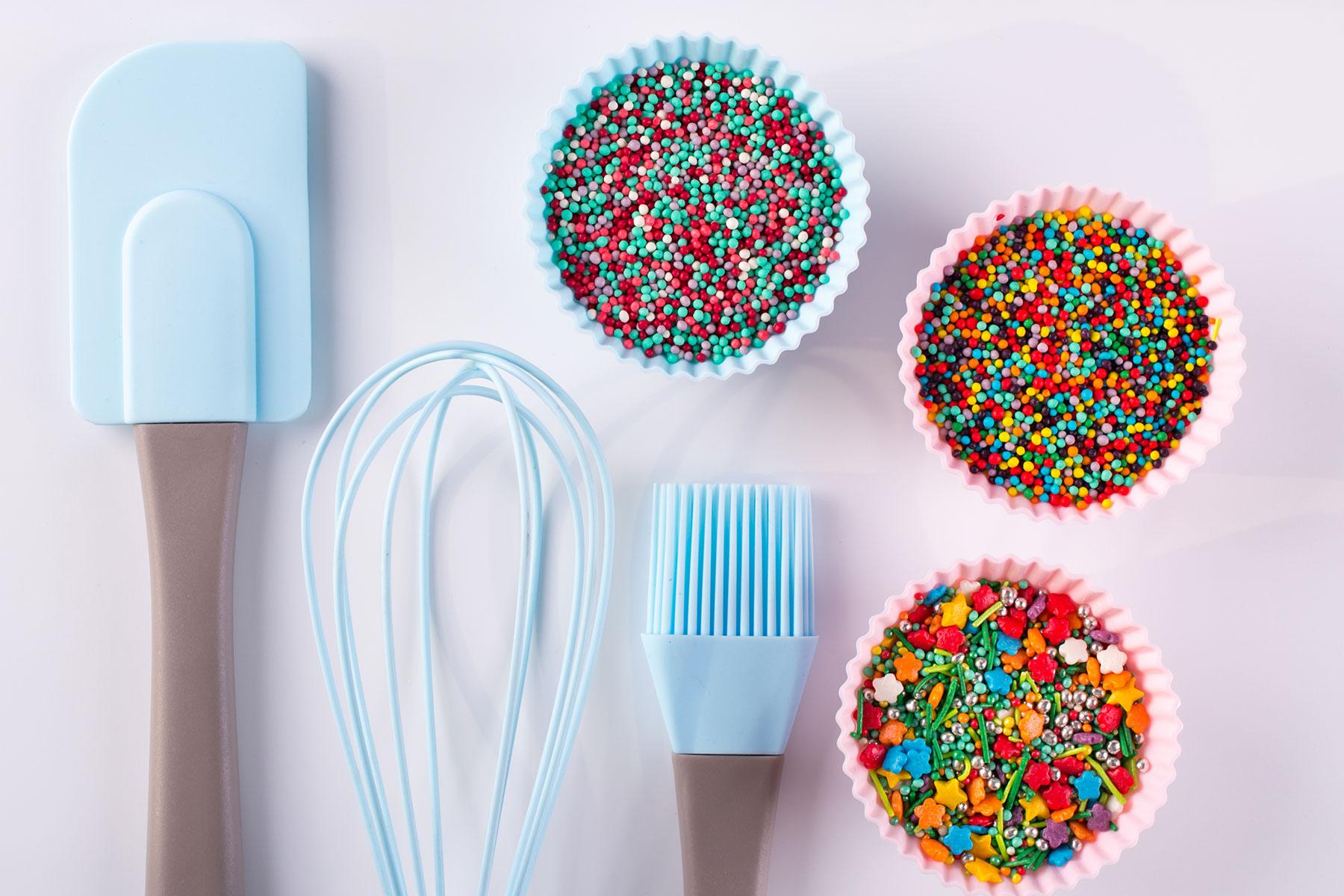 Materialien, Inspiration und Zutaten zum Torte Dekorieren und Verzieren