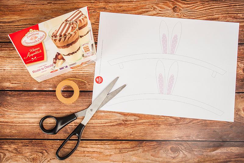 Materialien und Anleitung zum Osterdessert selber machen und verzieren