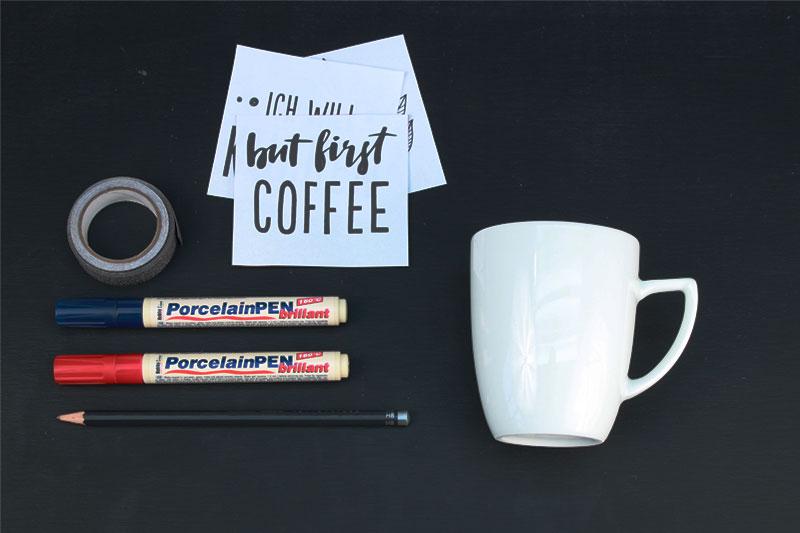 tassen bemalen kaffeetasse co selbst gestalten beschriften. Black Bedroom Furniture Sets. Home Design Ideas