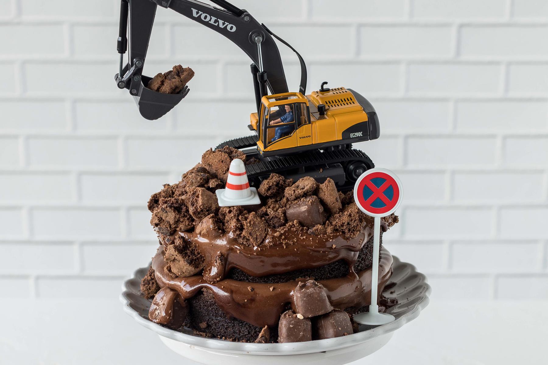 Ratz Fatz Baggerkuchen Selber Verzieren Einfache Anleitung