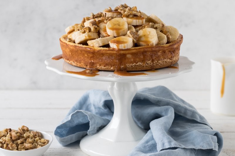 Banana-Walnut-Cheesecake mit salted caramel 1