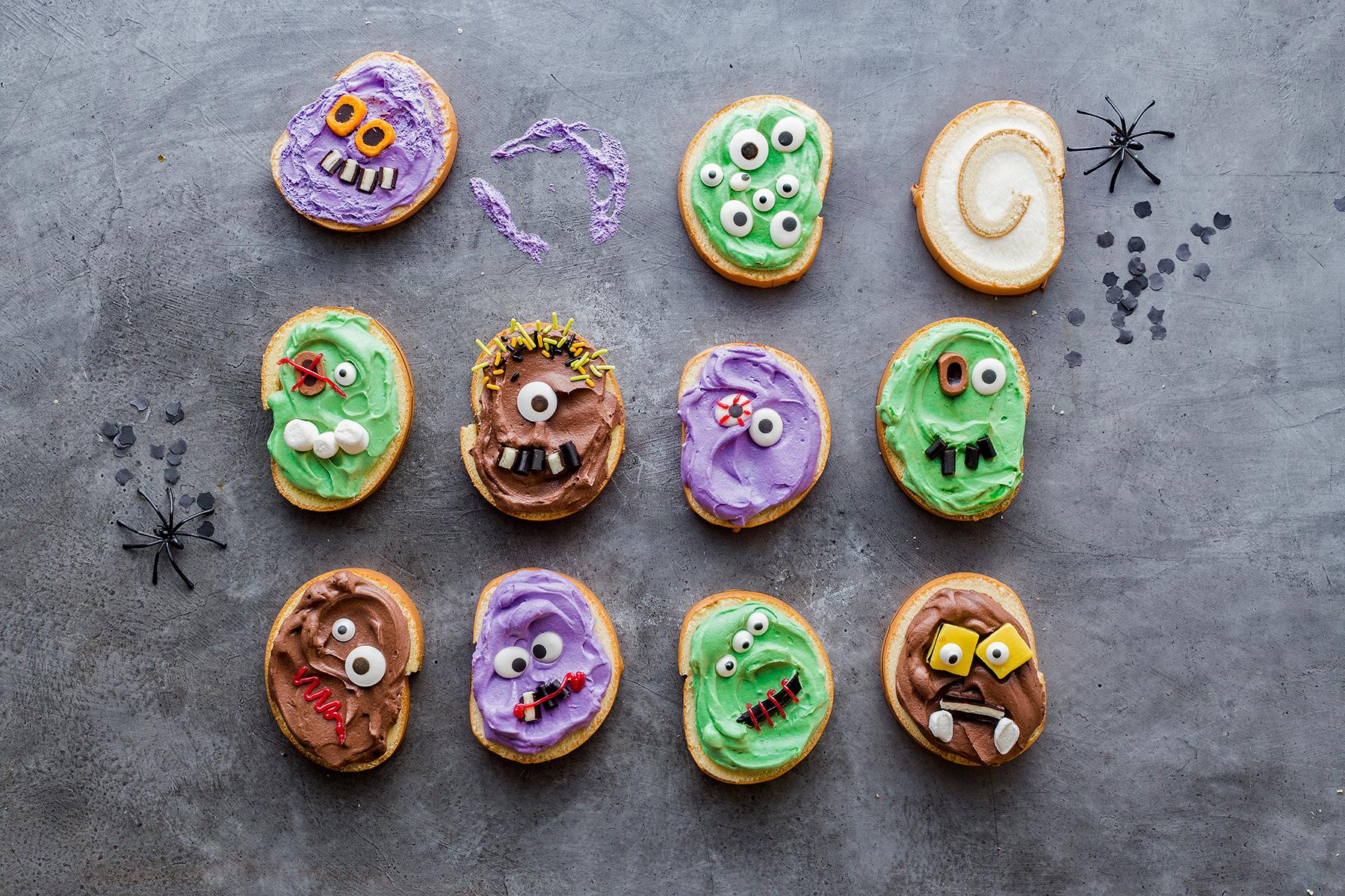 Monstermäßiges Dessert für das Halloween-Buffet
