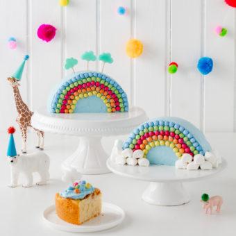Regenbogenkuchen zum Kindergeburtstag