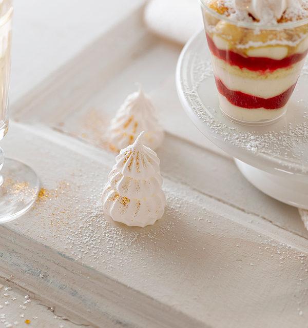 Dessert mit Baiser-Tanne 9