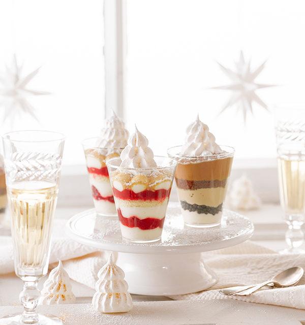 Dessert mit Baiser-Tanne 15