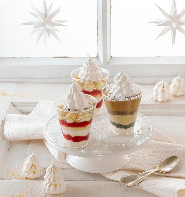 Dessert mit Baiser-Tanne 3