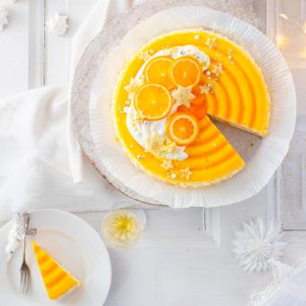 Weihnachtliche Mandarinen-Torte mit Mascarpone