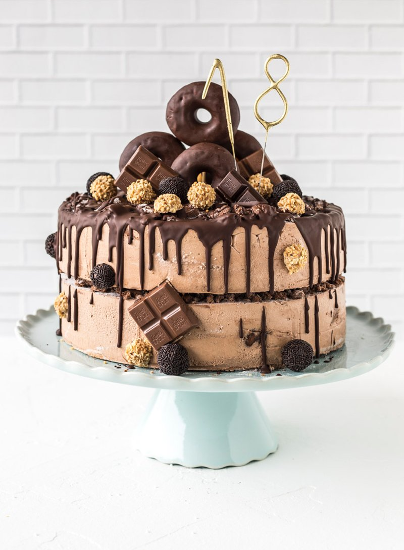 Donut-Torte zum 18.Geburtstag 2