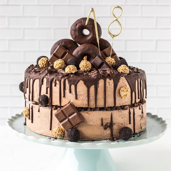 Donut-Torte zum 18.Geburtstag