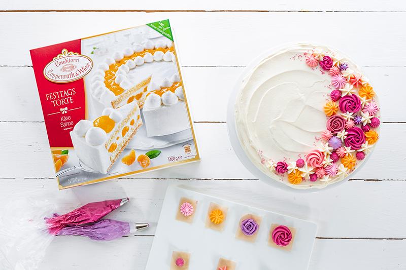 Buttercremerosen - stilvoll und einfach als Tortendeko! 2