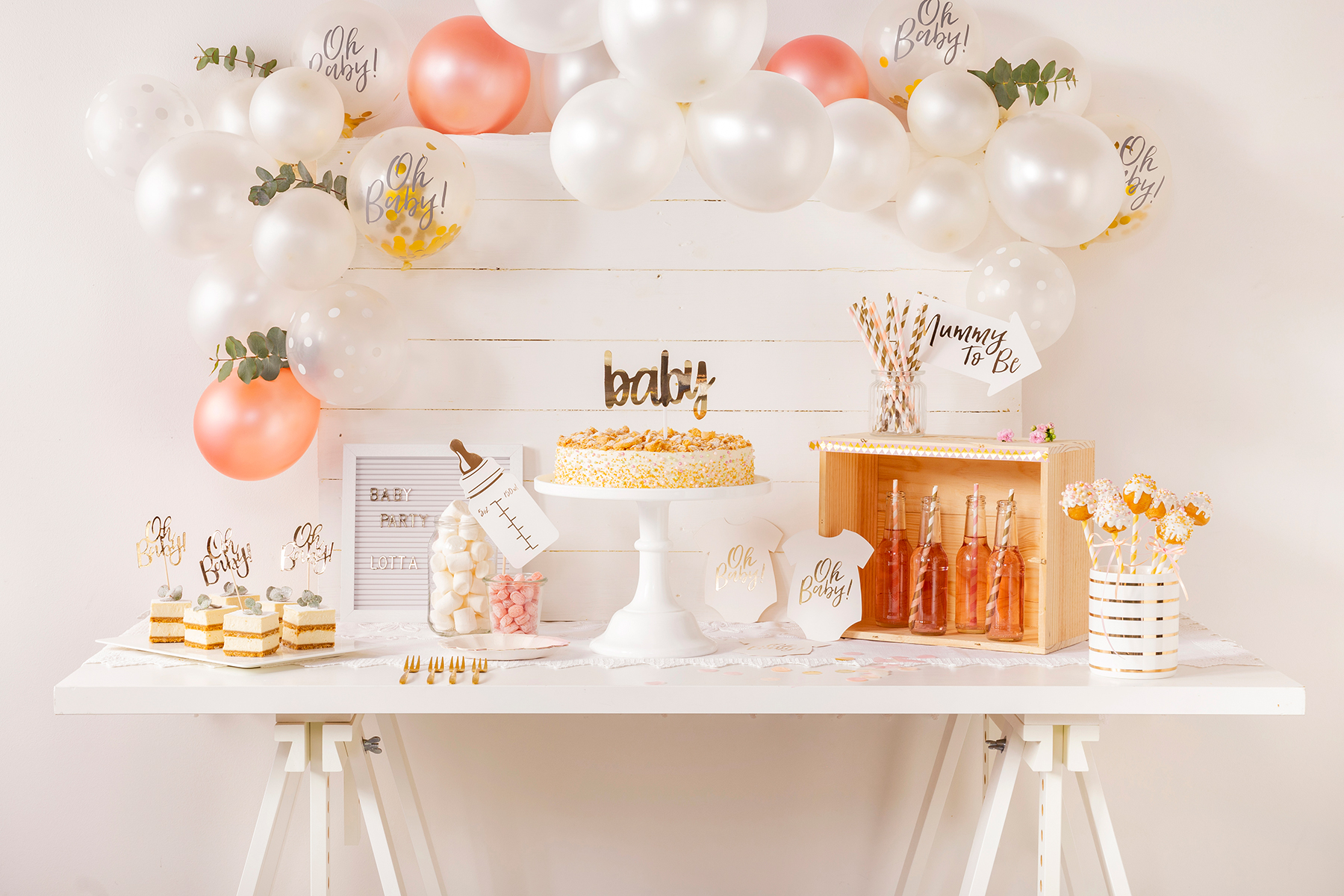 Sweet Table zur Babyparty