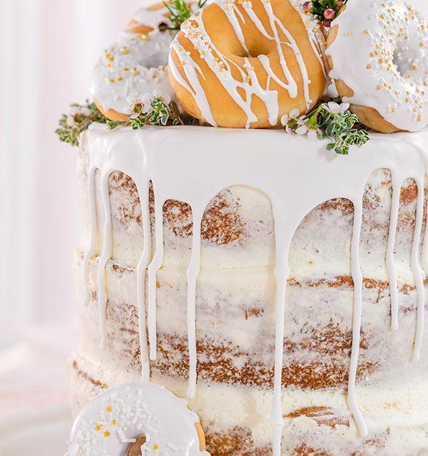 Donut-Torte ganz ohne backen! 9