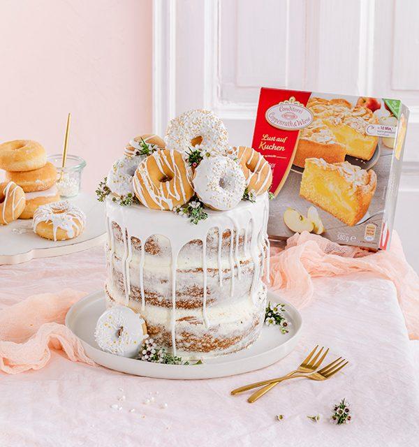 Donut-Torte ganz ohne backen! 4