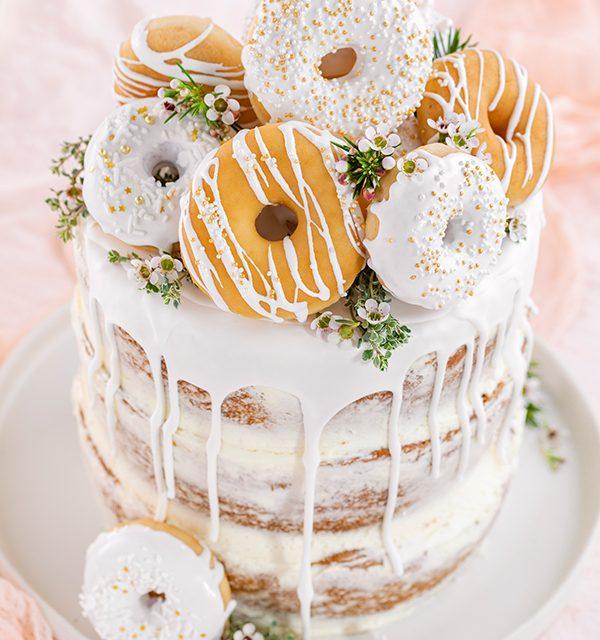 Donut-Torte ganz ohne backen! 8