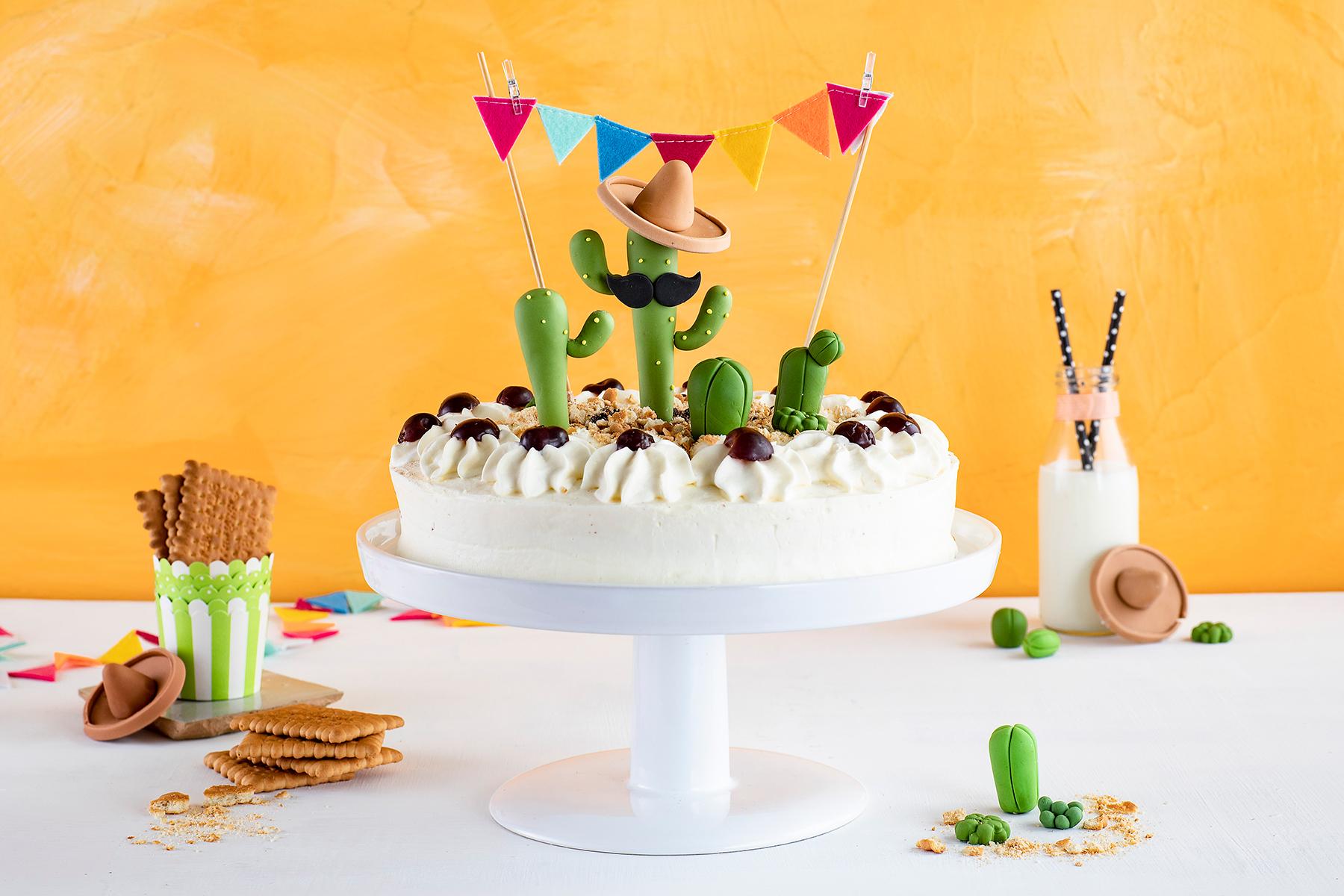Für alle Pflanzenfans: Kaktus-Torte!