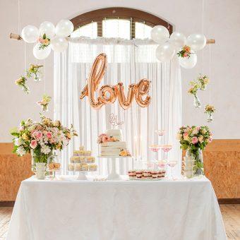Sweet Table mit Hochzeitstorte