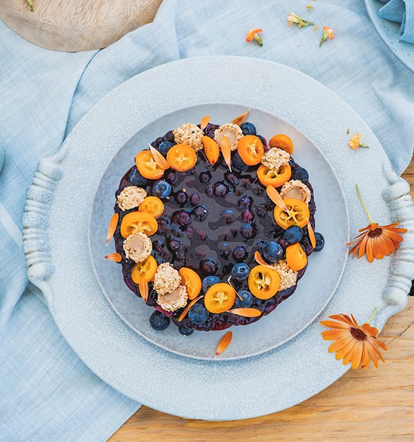 Blaubeer-Cheesecake im Sommerlook! 9
