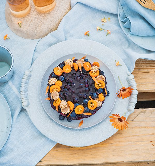 Blaubeer-Cheesecake im Sommerlook! 10