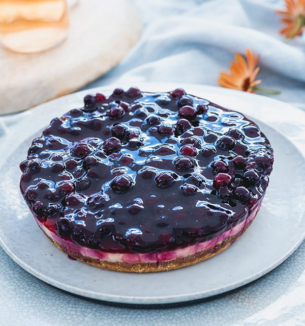 Blaubeer-Cheesecake im Sommerlook! 3