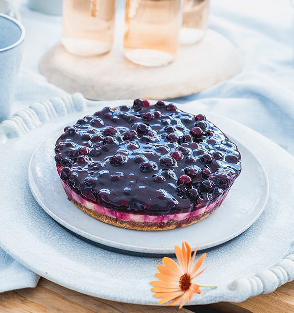 Blaubeer-Cheesecake im Sommerlook! 4