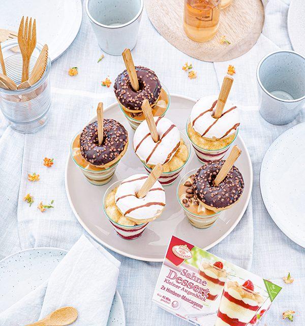 Mix & Match: Salted-Caramel-Dessert mit Donut-Topping 4