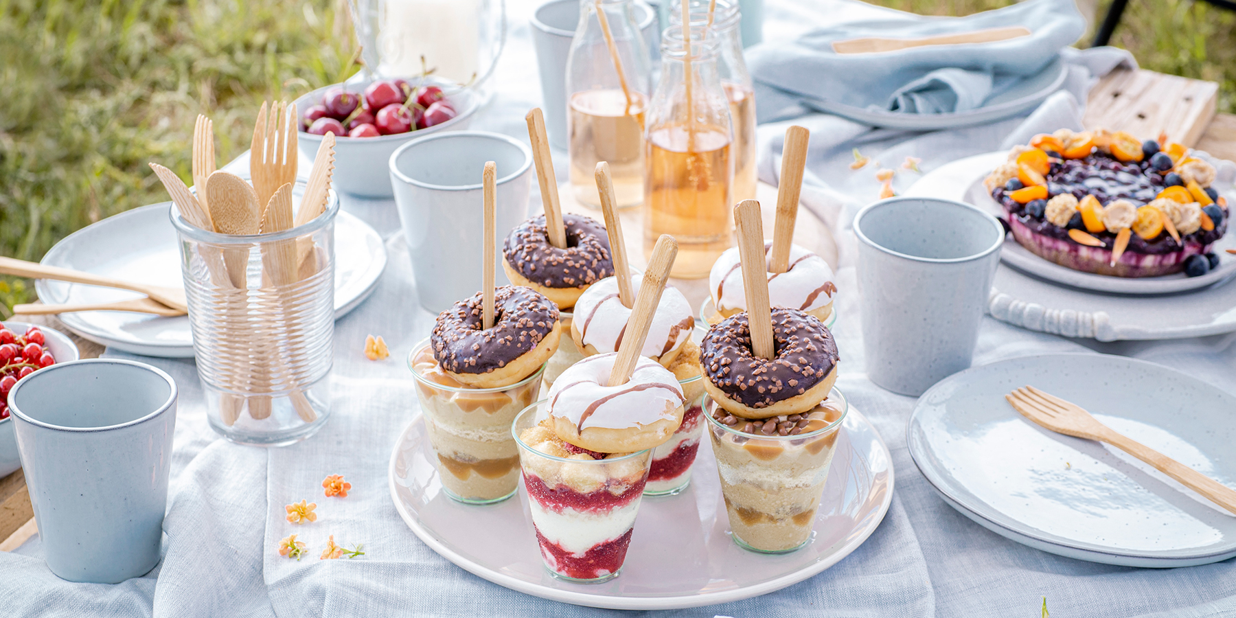 Mix & Match: Salted-Caramel-Dessert mit Donut-Topping